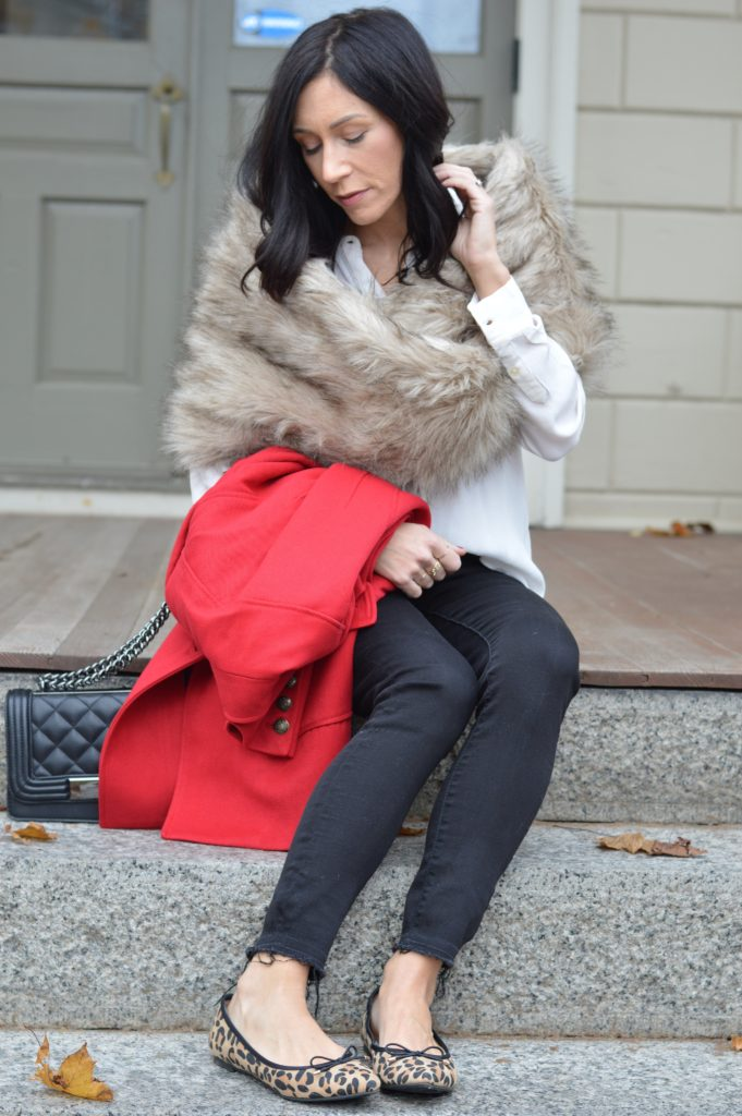 red2 The Best Red Winter Coat this Holiday Season by Boston fashion blogger Living Life Pretty