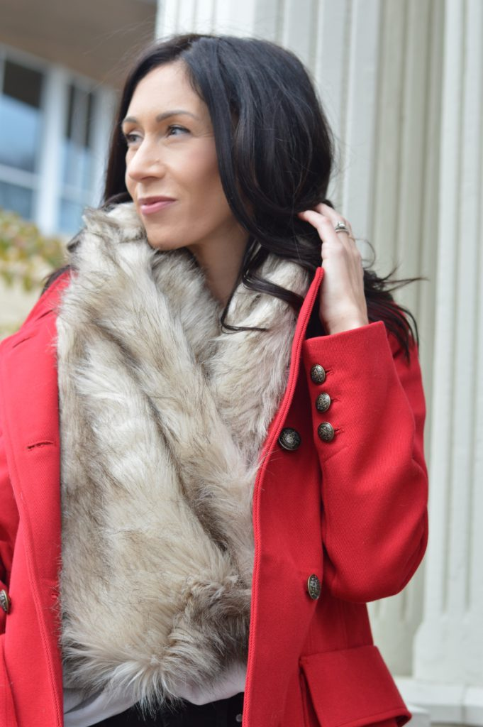 red8 - The Best Red Winter Coat this Holiday Season by Boston fashion blogger Living Life Pretty