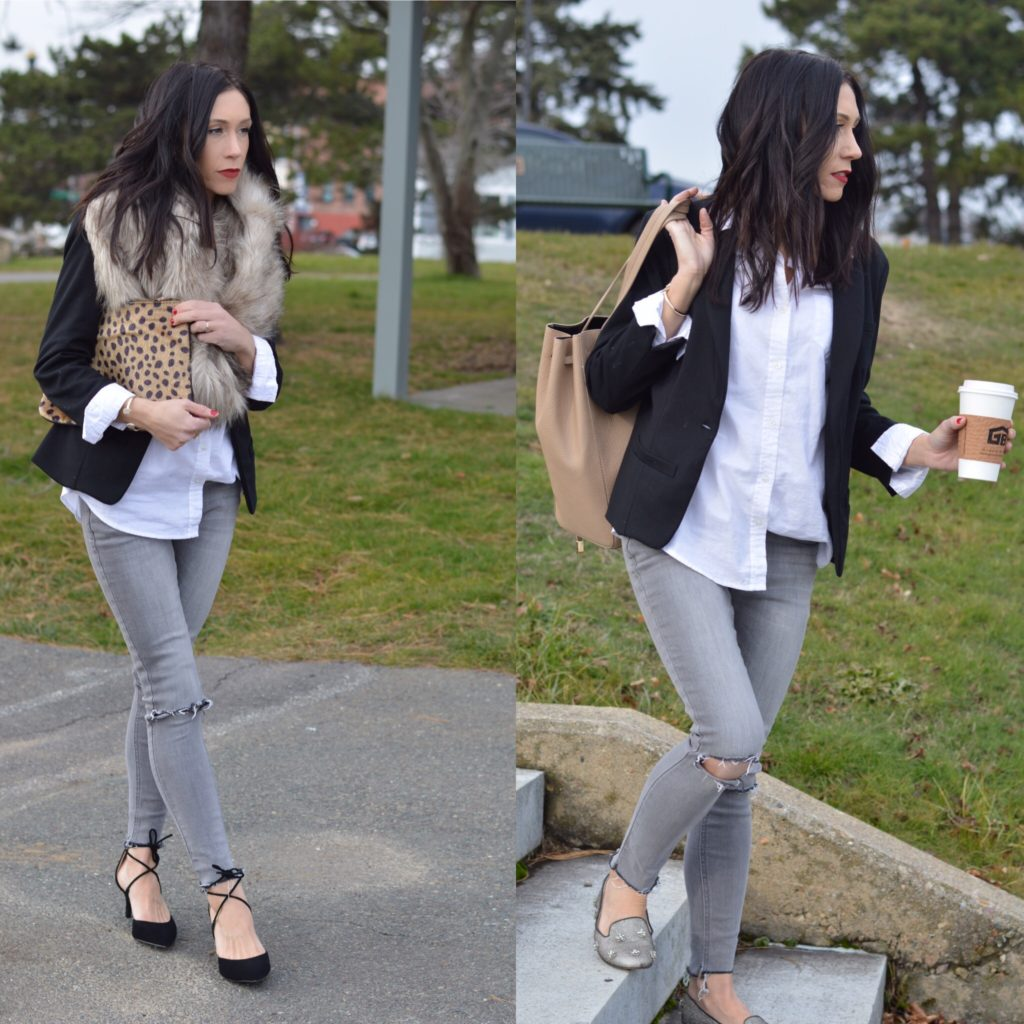 Holiday Outfit: Day to Night, Work to Play! by Boston fashion blogger Living Life Pretty