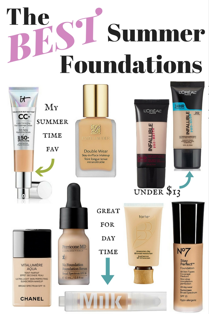 The best sweatproof, huge poroof summer foundations by Boston style blogger Living Life Pretty