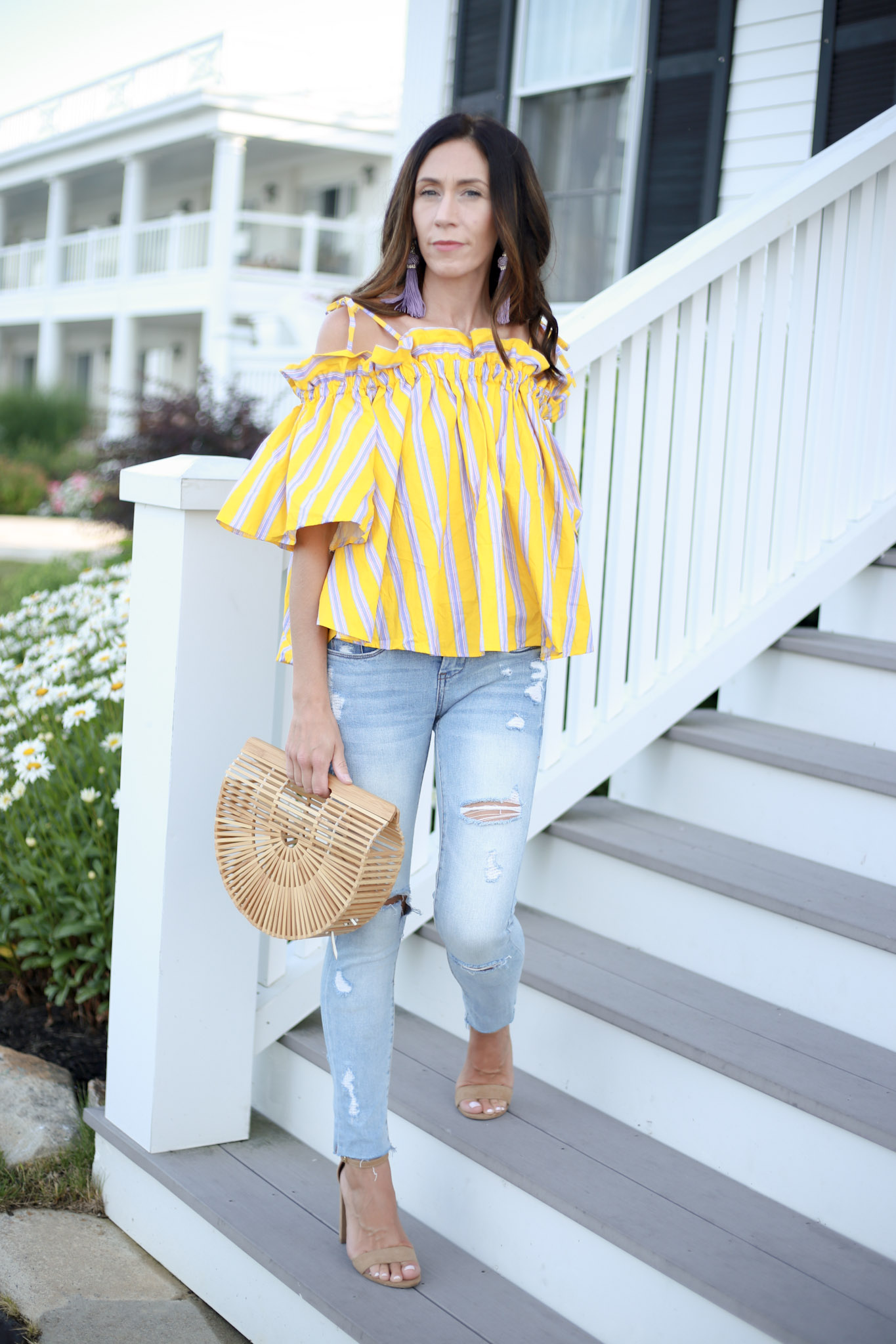 the cutest off the shoulder top from Chicwish. How to use Liketoknow.it and shopping the #Nsale. How To Use Liketoknow It by Boston fashion blogger Living Life Pretty