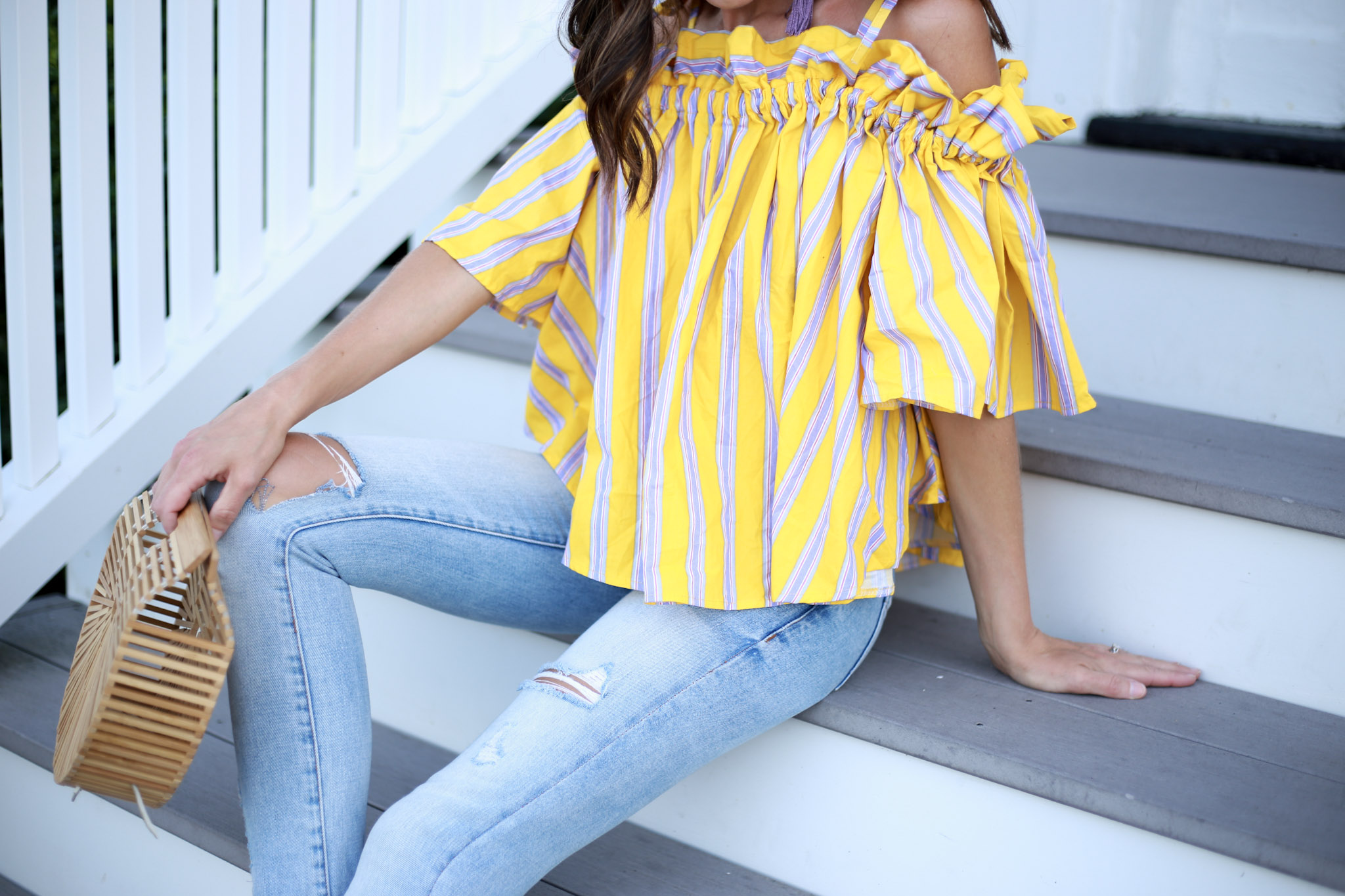 the must have off the shoulder top from Chichwish and under $40 How To Use Liketoknow It by Boston fashion blogger Living Life Pretty