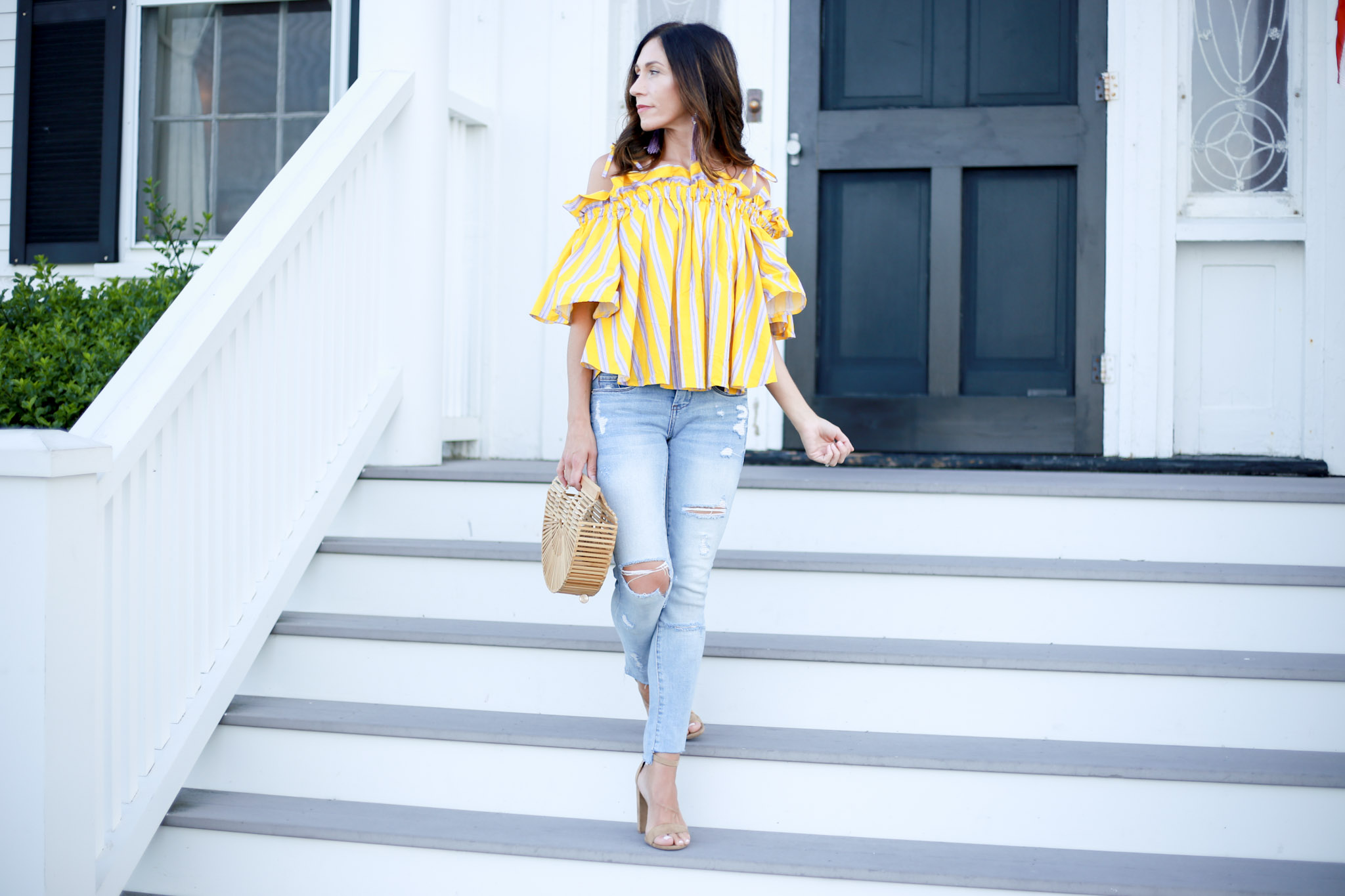 My favorite off the shoulder top for summer.
