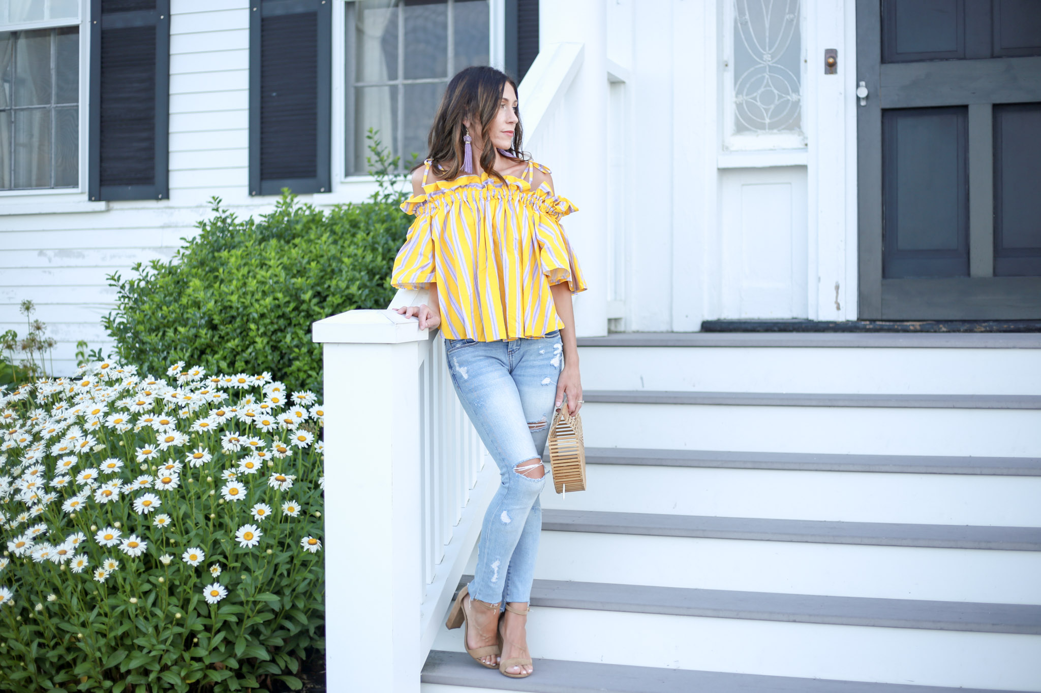 my favorite off the shoulder top from Chicwish. How to style this OTS top for summer.