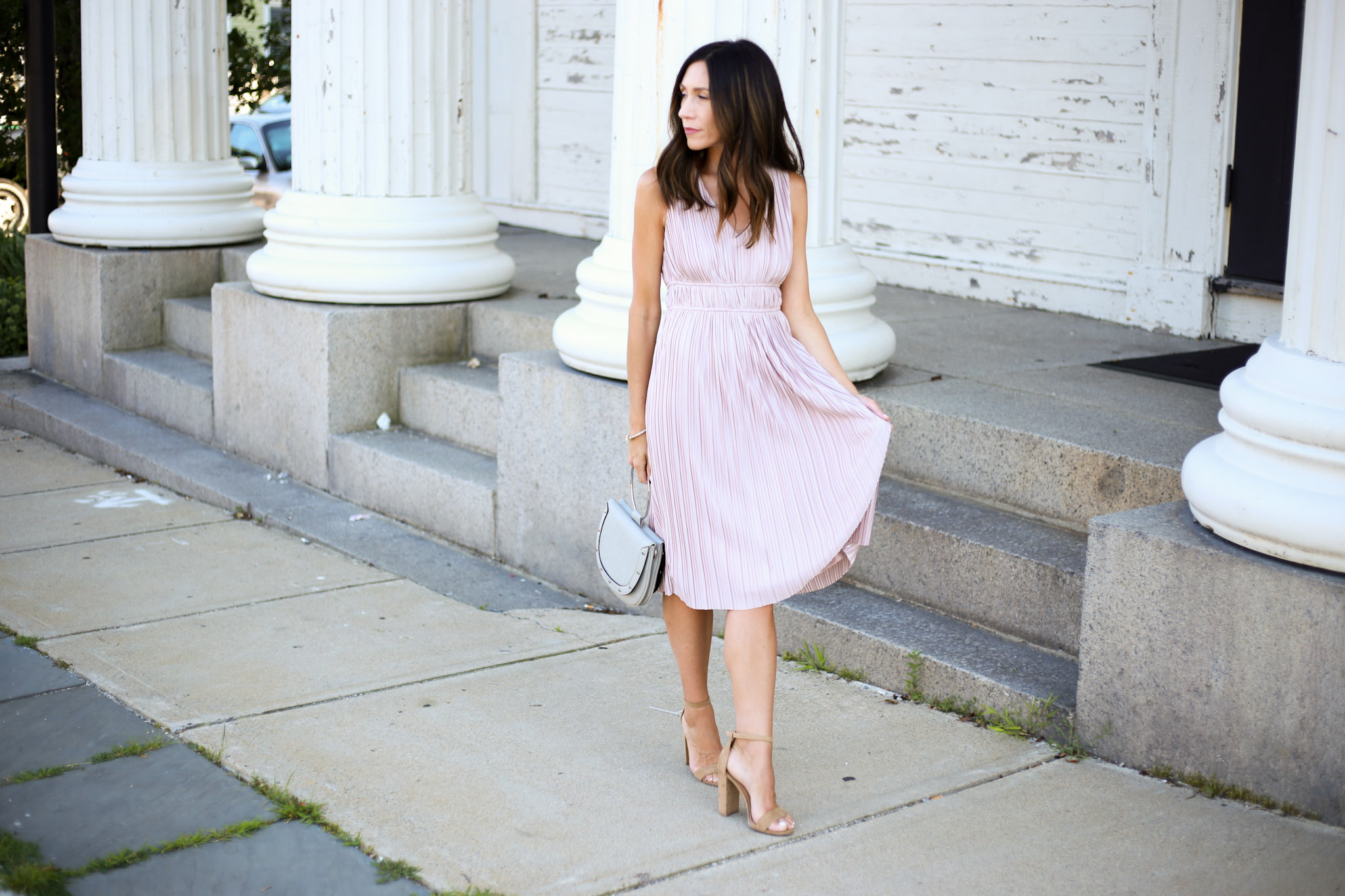 Perfect Affordable Dress For a Summer Wedding by Boston fashion blogger Living Life Pretty