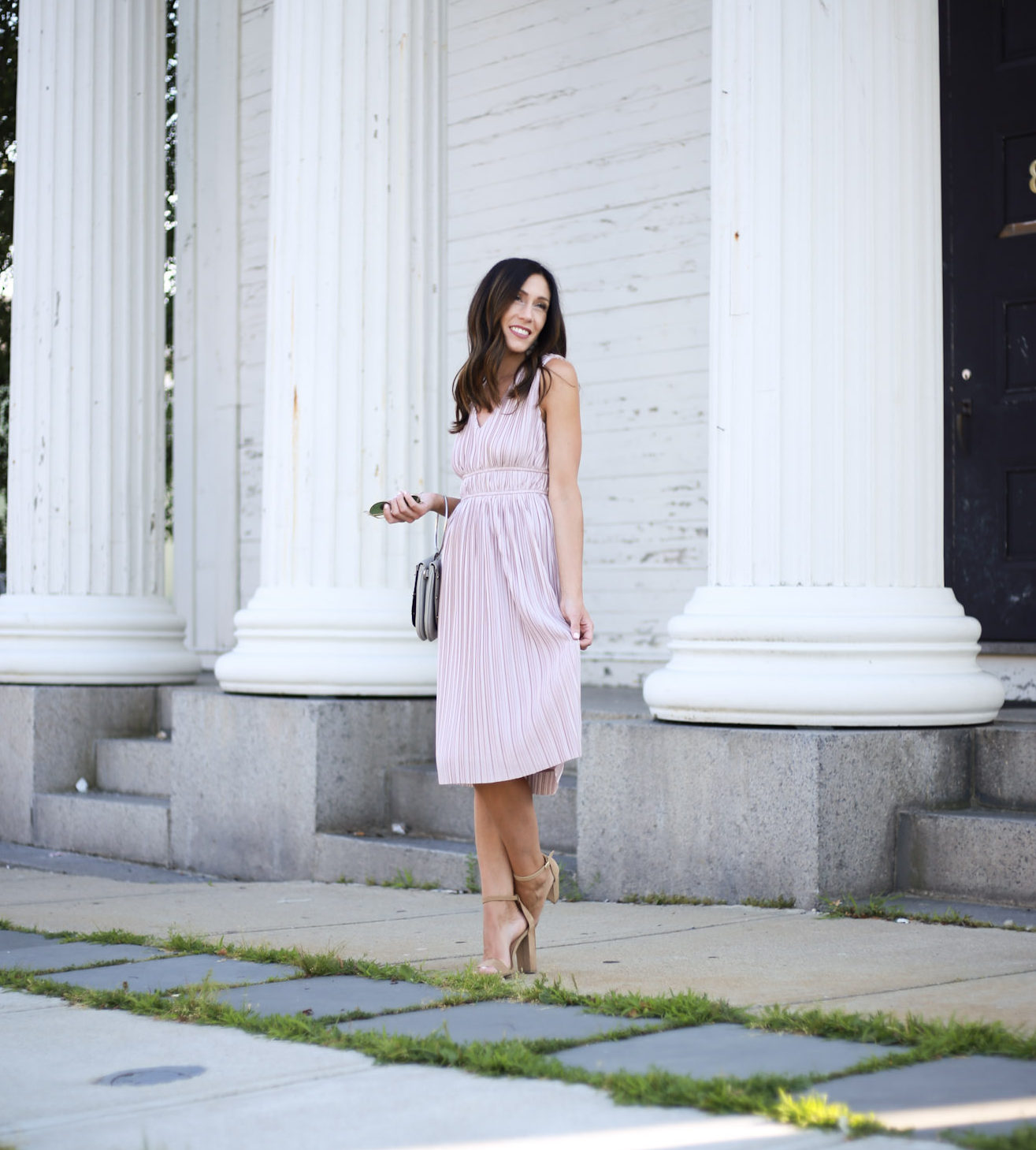 This perfect dress in a showstopper and affordable - Perfect Affordable Dress For a Summer Wedding by Boston fashion blogger Living Life Pretty