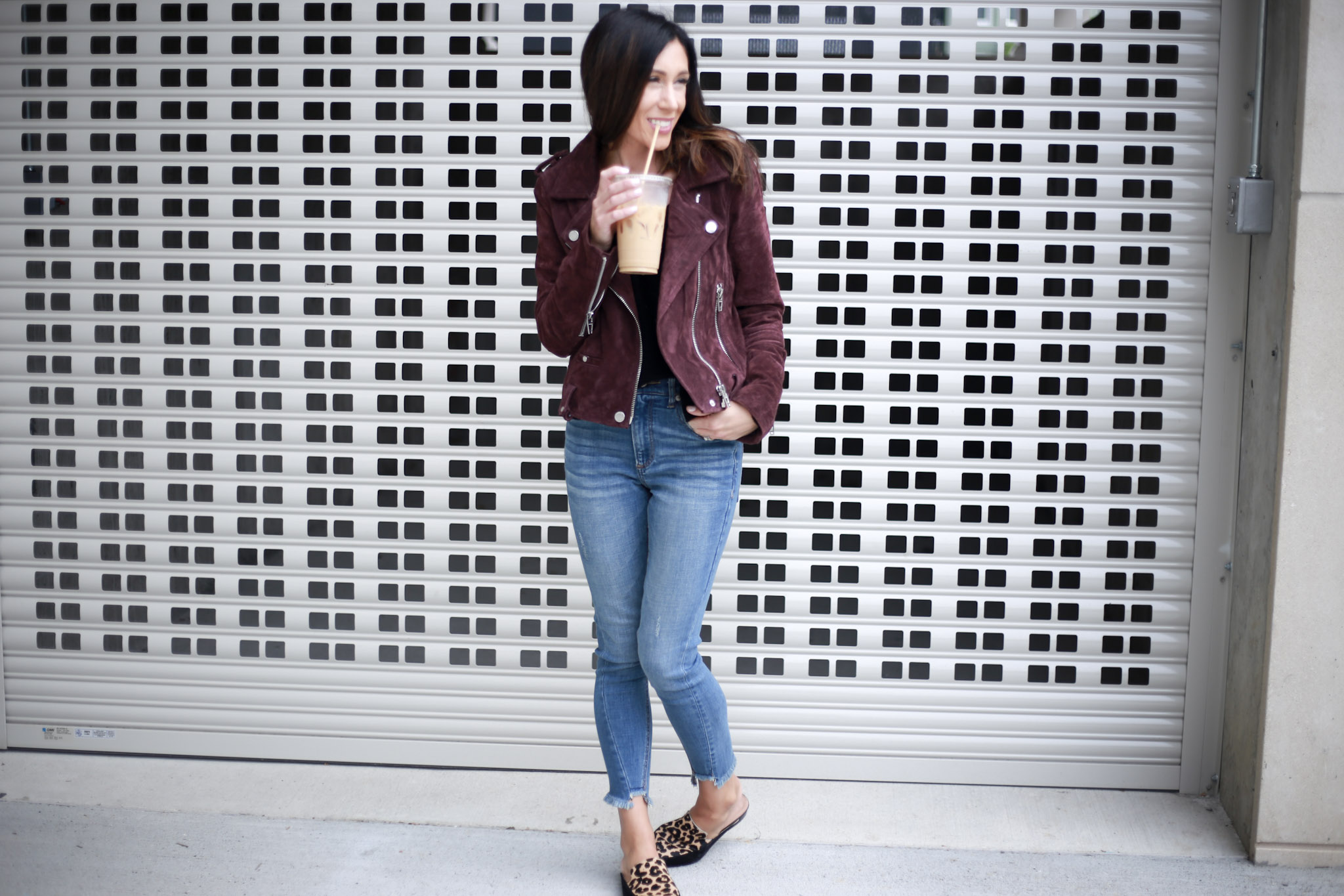 Capsule Wardrobe Series: Moto Jacket by Boston fashion blogger Living Life Pretty