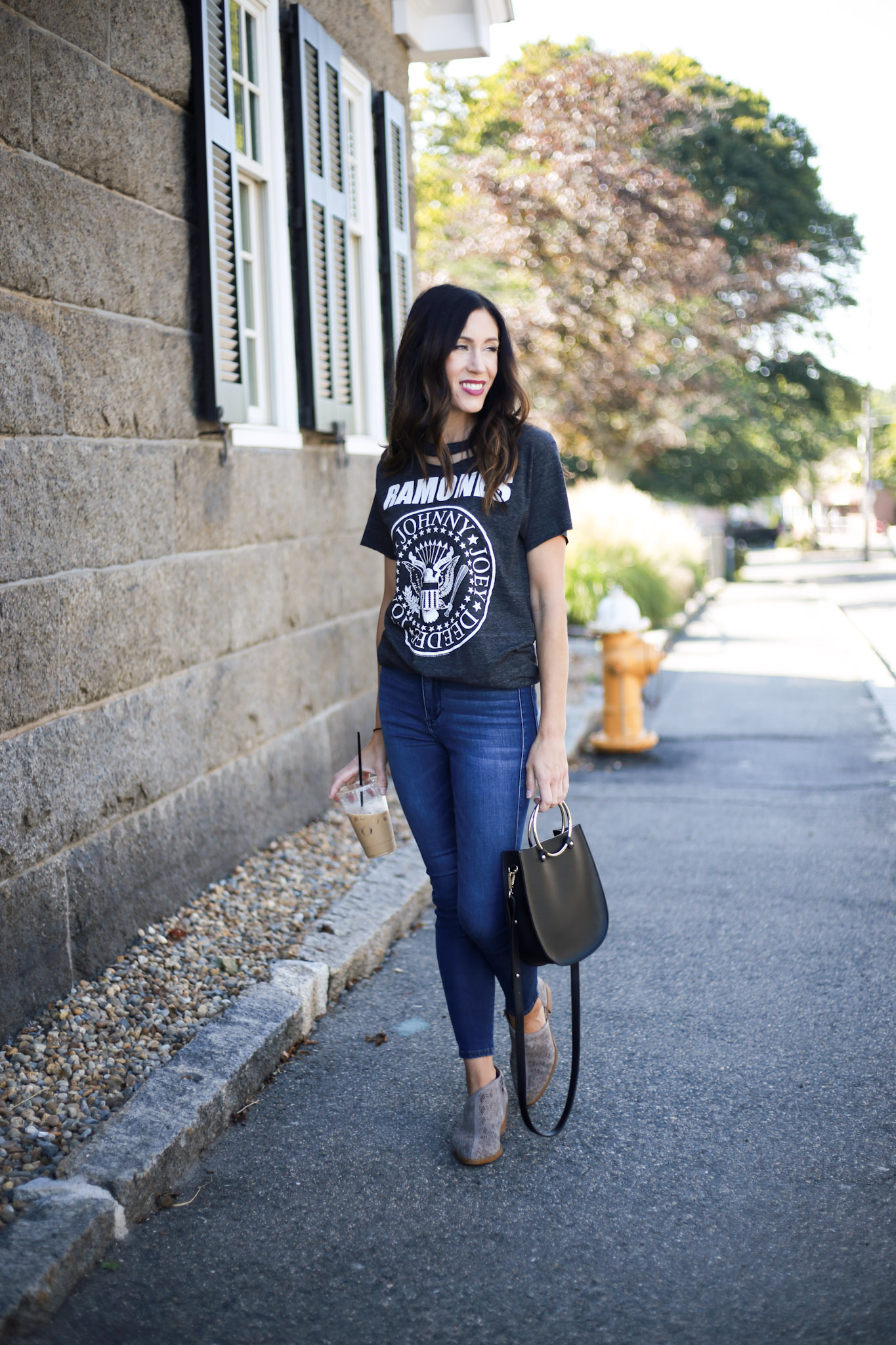 styling graphic tees and the best Labor Day Sales! - Band Tees + Rocking Labor Day Sales by Boston fashion blogger Living Life Pretty