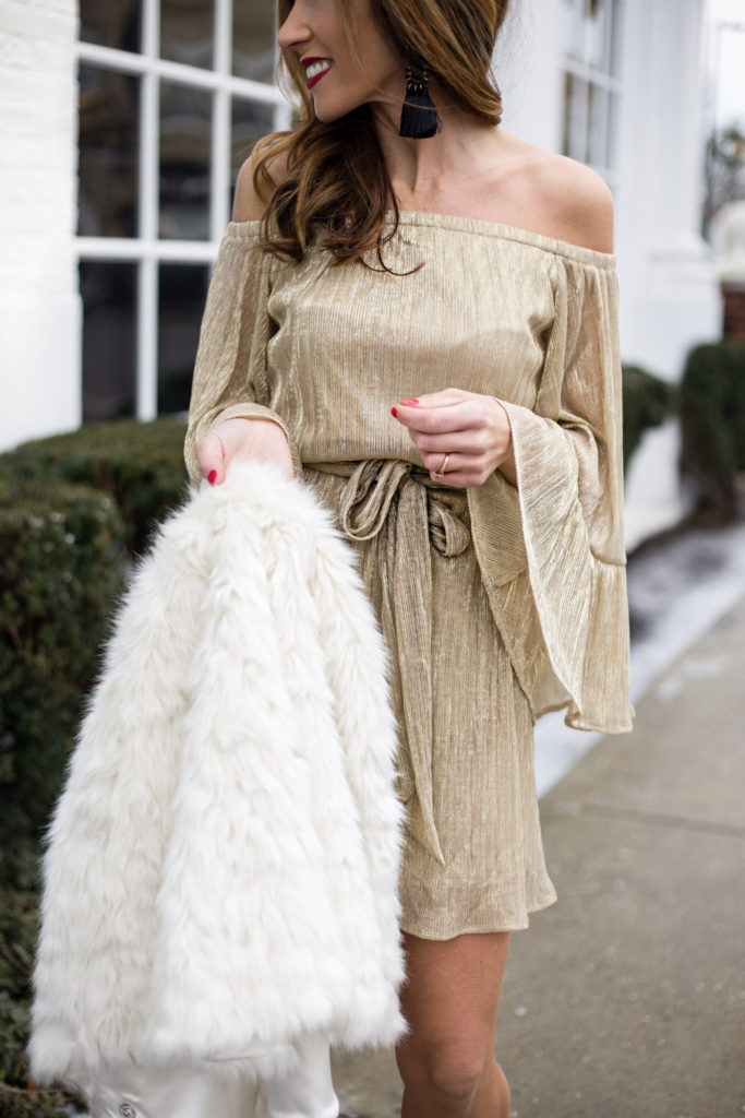 NYE Look by Boston Based fashion blogger LivingLifePretty