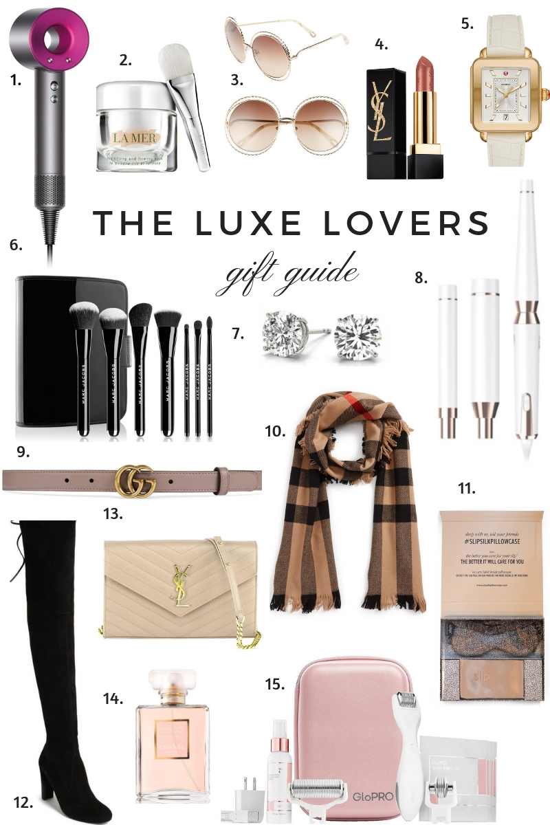 The 'Luxe Lovers Gift guide ' by Boston based fashion blogger Livinglifepretty