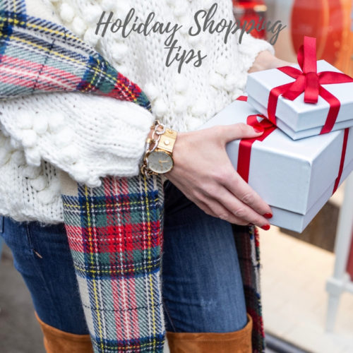 Holiday Shopping Tips By Boston based Fashion Blogger Living Life Pretty