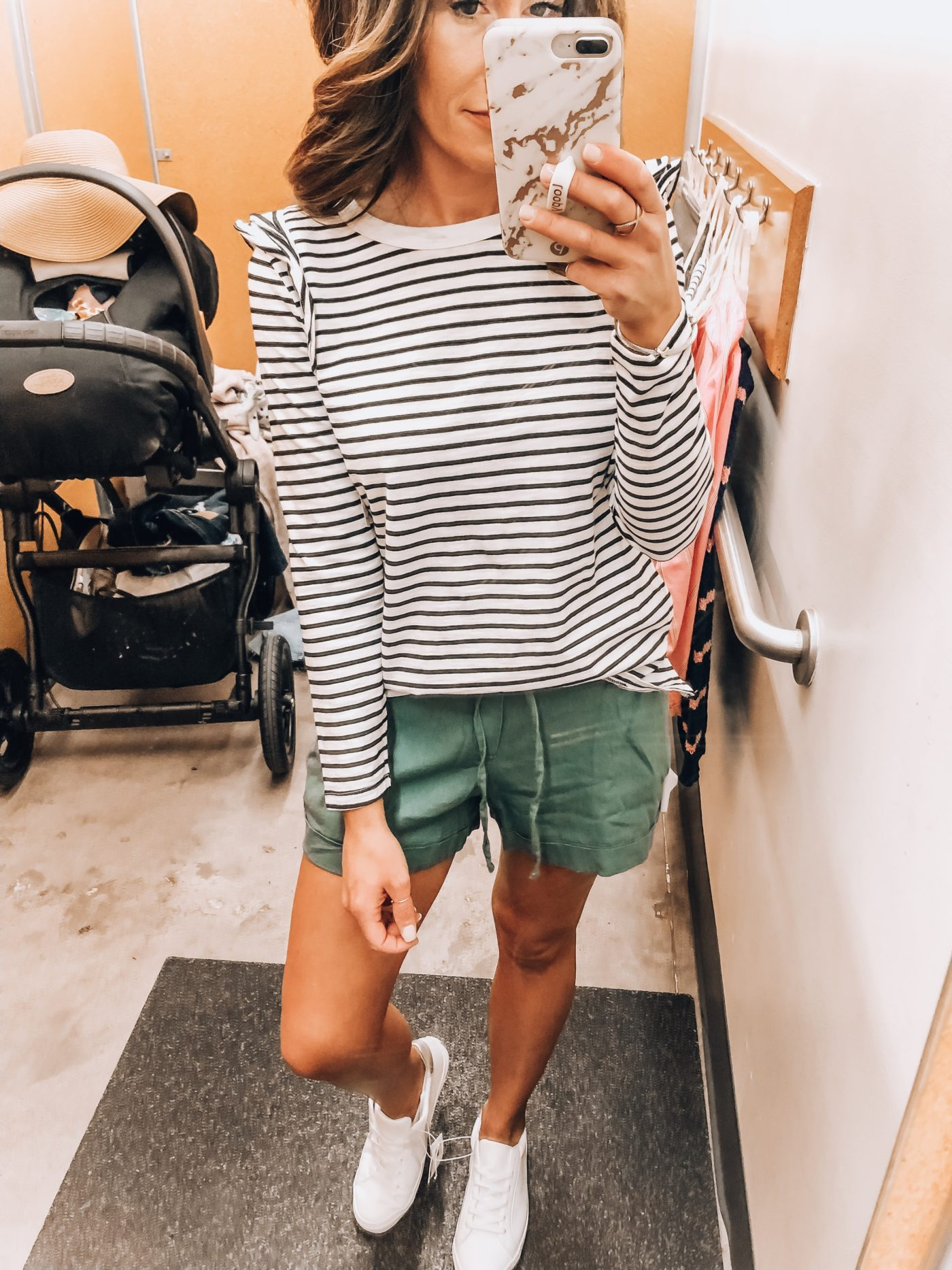 Old Navy Try-on; all on sale with sizing details