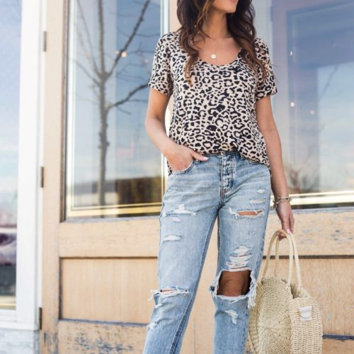Casual Spring Style -Leopard tee
